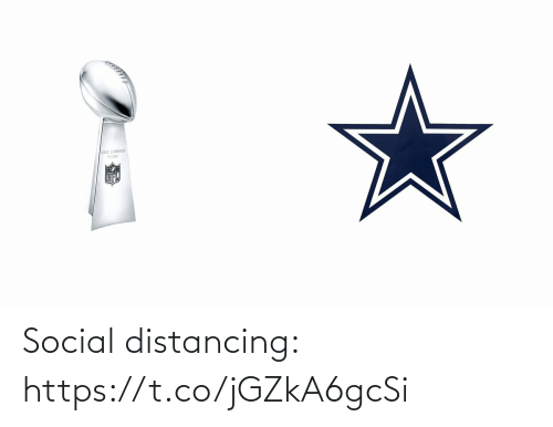 NFL: Social distancing: https://t.co/jGZkA6gcSi