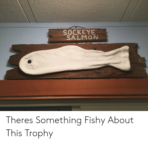 Salmon, This, and Trophy: SOCKEYE  SALMON Theres Something Fishy About This Trophy