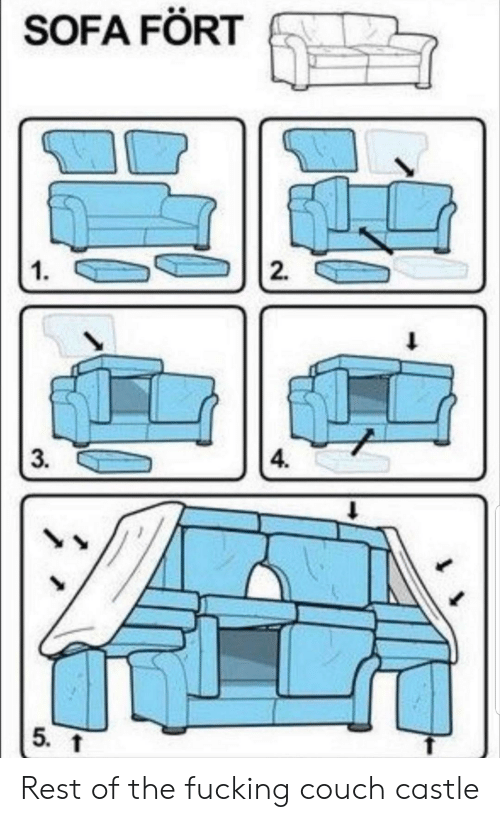 Fucking, Couch, and Castle: SOFA FÖRT  2  1  1  4.  3.  5. Rest of the fucking couch castle