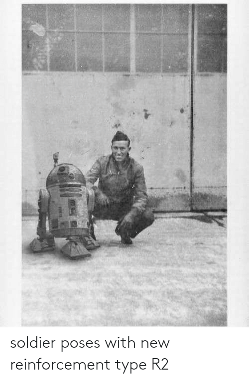 Reinforcement: soldier poses with new reinforcement type R2