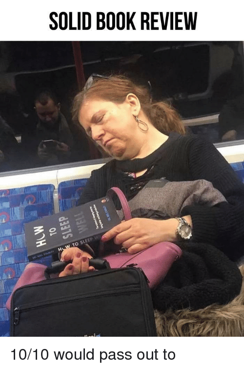 pass out: SOLID BOOK REVIEW  TO SLEEP w 10/10 would pass out to