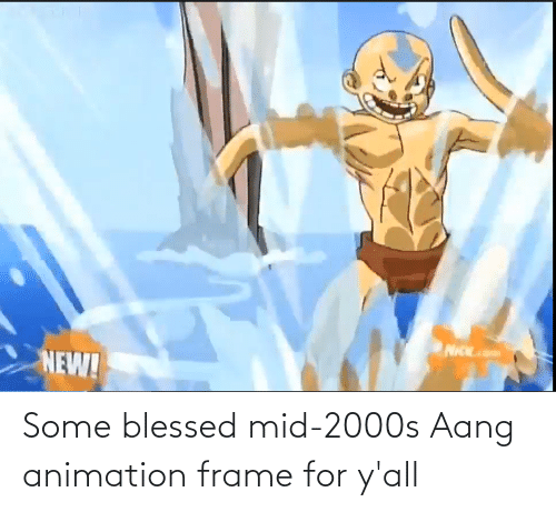 Animation: Some blessed mid-2000s Aang animation frame for y'all