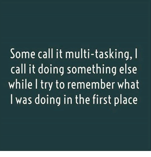 Dank, Something Else, and 🤖: Some call it multi-tasking, I  call it doing something else  while l try to remember what  l was doing in the first place