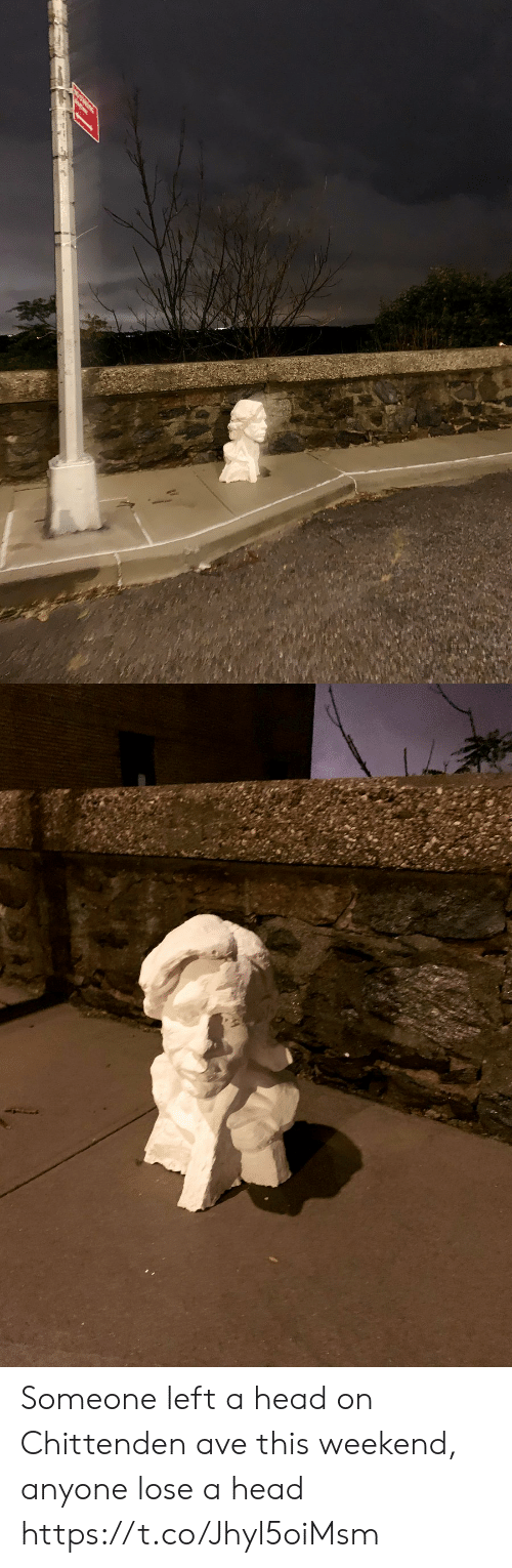 Head, Memes, and 🤖: Someone left a head on Chittenden ave this weekend, anyone lose a head https://t.co/Jhyl5oiMsm