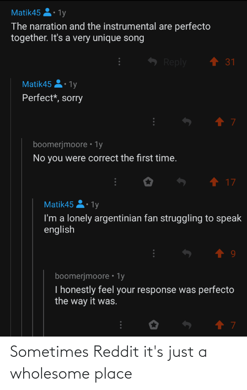 Wholesome: Sometimes Reddit it's just a wholesome place