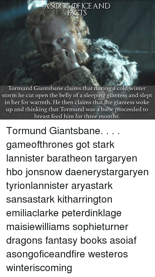 song of ice and facts tsbane claims that duringa tormund 26504705 ✅ 25 best memes about sleeping giantess sleeping giantess memes