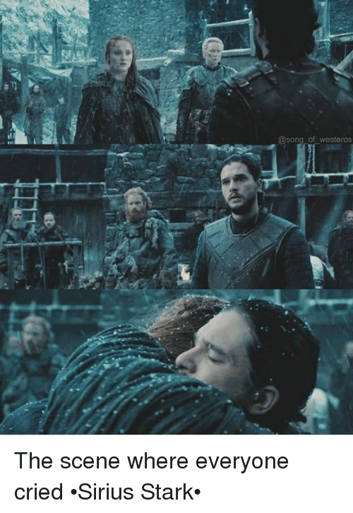 Westero: @song of Westeros The scene where everyone cried •Sirius Stark•