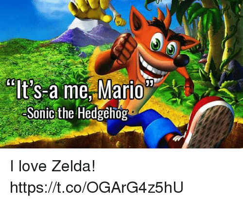 Love, Video Games, and Sonic the Hedgehog: Sonic the Hedgehog I love Zelda! https://t.co/OGArG4z5hU