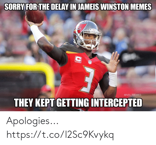 jameis winston: SORRY FOR THE DELAY IN JAMEIS WINSTON MEMES  Bucg  @NFL_MEMES  THEY KEPT GETTING INTERCEPTED Apologies... https://t.co/l2Sc9Kvykq