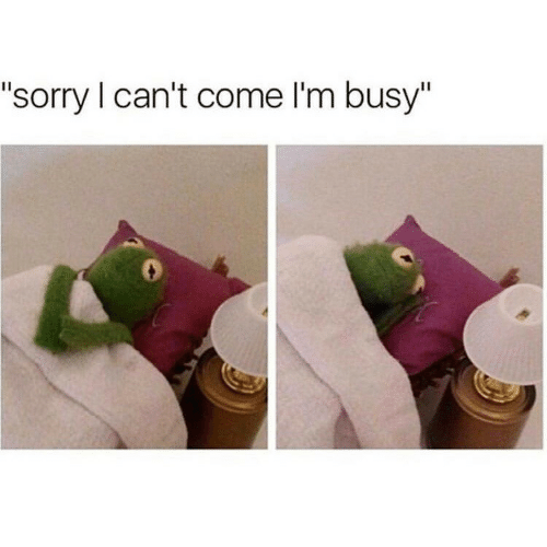 "Sorry,  I Cant, and  Come: ""sorry I can't come I'm busy"""