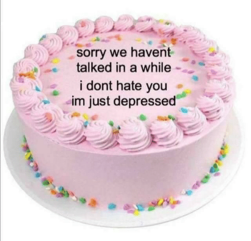 Dont Hate: sorry we havent  talked in a while  DS  i dont hate you  im just depressed