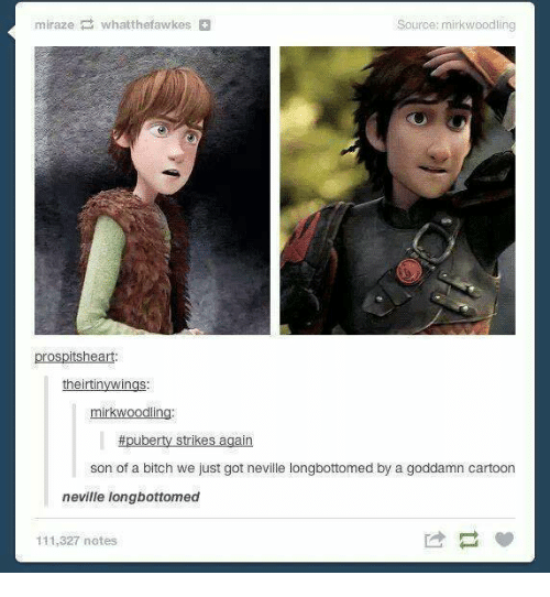 Neville Longbottomed: Source: mirkwoodling  prospitsheart:  theirtinywings  mirkwoodling  puberty strikes again  son of a bitch we just got neville longbottomed by a goddamn cartoon  neville longbottomed  111,327 notes