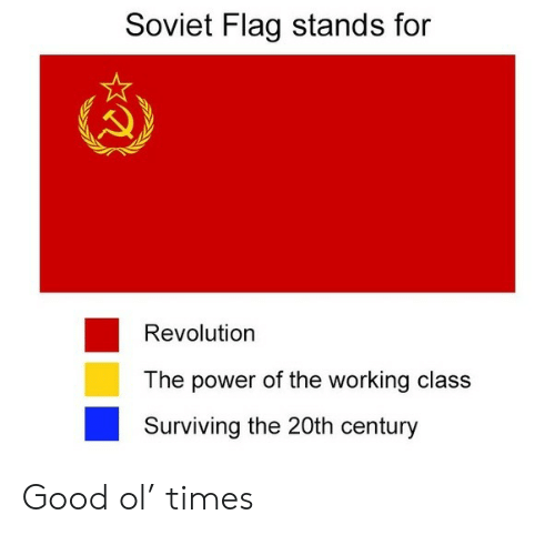 Good, Power, and Revolution: Soviet Flag stands for  Revolution  The power of the working class  Surviving the 20th century Good ol' times