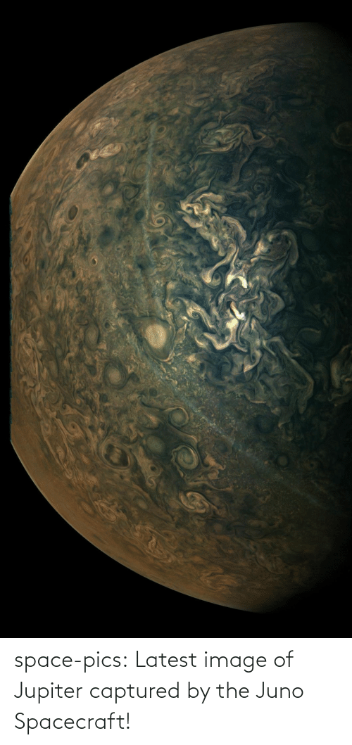 Image: space-pics:  Latest image of Jupiter captured by the Juno Spacecraft!