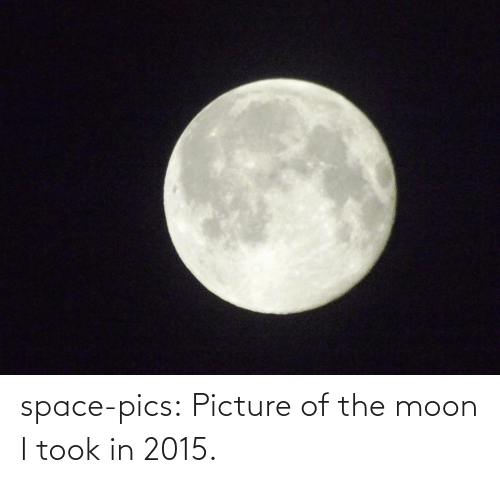 Picture Of: space-pics:  Picture of the moon I took in 2015.