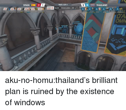 aku: SPAIN  1 x  MAP 4 OF 4  2  THAILAND  DA  OMI  33乙 aku-no-homu:thailand's brilliant plan is ruined by the existence of windows