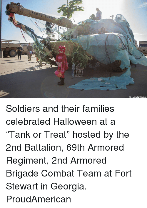 "armored: (Spc. Jonathan Wallace) Soldiers and their families celebrated Halloween at a ""Tank or Treat"" hosted by the 2nd Battalion, 69th Armored Regiment, 2nd Armored Brigade Combat Team at Fort Stewart in Georgia. ProudAmerican"