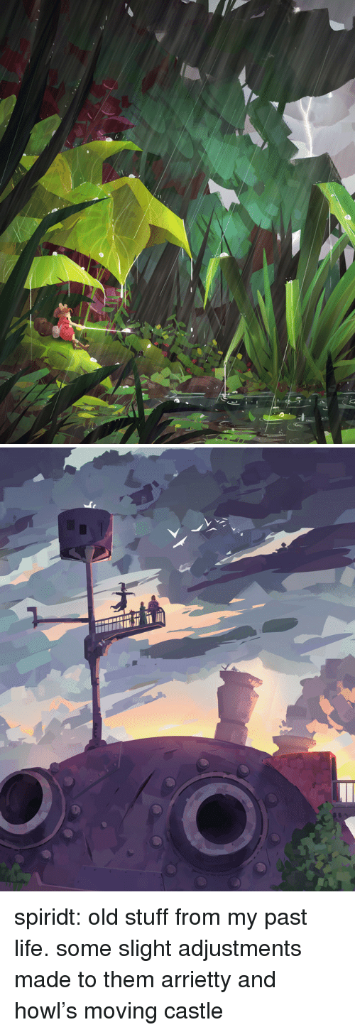 Life, Tumblr, and Blog: spiridt:    old stuff from my past life. some slight adjustments made to them  arrietty and howl's moving castle