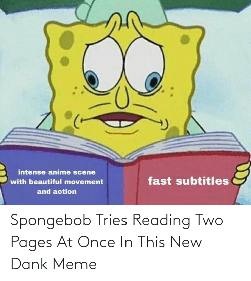 pages: Spongebob Tries Reading Two Pages At Once In This New Dank Meme