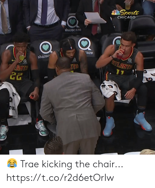 Chicago, Memes, and Sports: Sports  CHICAGO  sharecare  care  ATLANT  sharec  11  ANTY  22  TR 😂 Trae kicking the chair... https://t.co/r2d6etOrIw