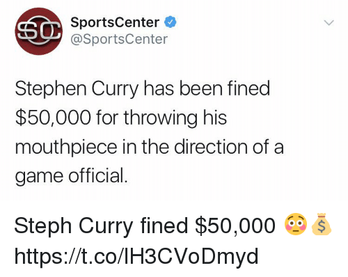 SportsCenter Stephen Curry Has Been Fined $50000 for