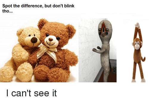 Blink, Spot, and Dont Blink: Spot the difference, but don't blink  tho..