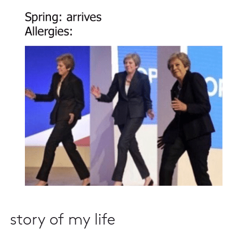 story of my life: Spring: arrives  Allergies: story of my life