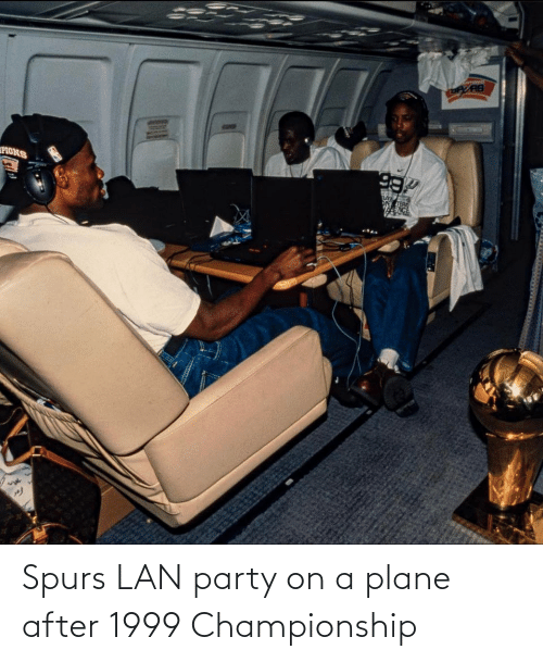 Spurs: Spurs LAN party on a plane after 1999 Championship