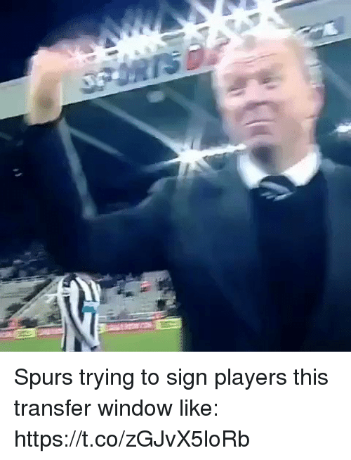 Soccer, Spurs, and Window: Spurs trying to sign players this transfer window like: https://t.co/zGJvX5loRb