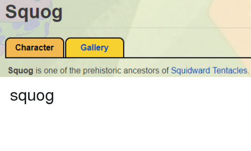 Squog Character Gallery Squog Is One of the Prehistoric