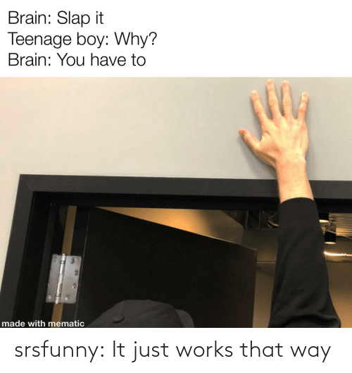 way: srsfunny:  It just works that way