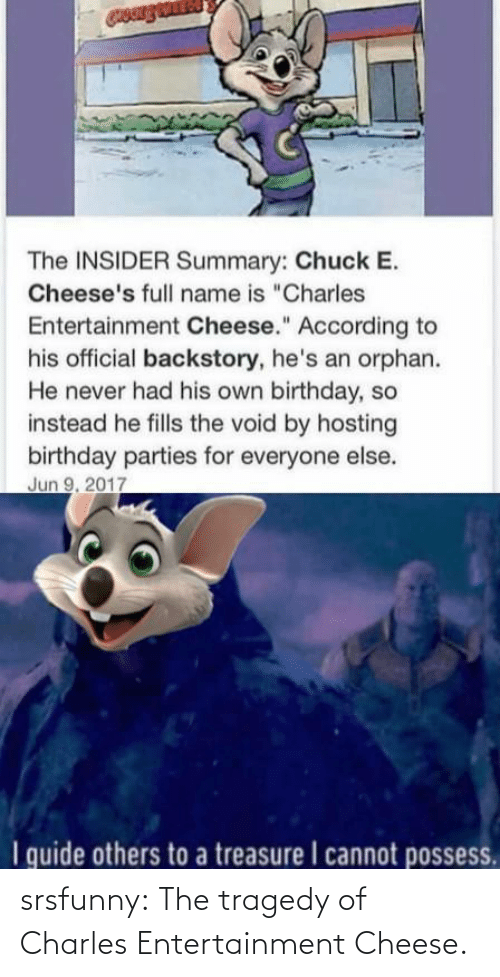 tragedy: srsfunny:  The tragedy of Charles Entertainment Cheese.