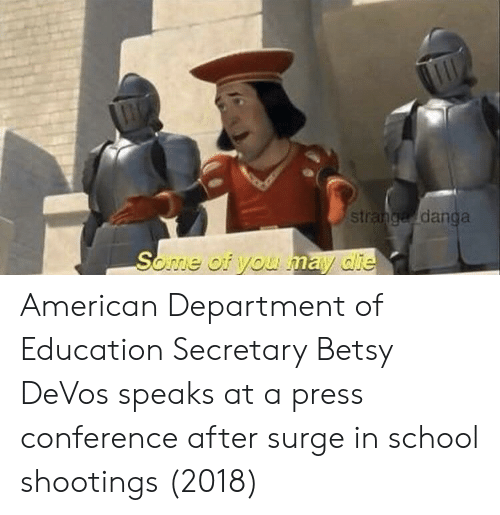 surge: st  danga American Department of Education Secretary Betsy DeVos speaks at a press conference after surge in school shootings (2018)