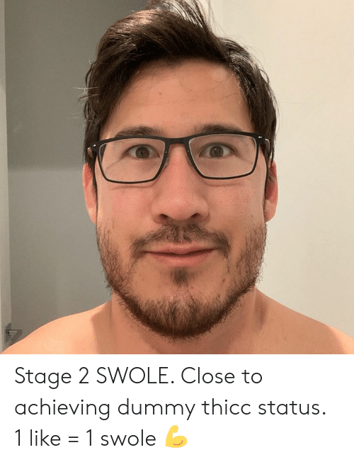 Dank, Swole, and 🤖: Stage 2 SWOLE. Close to achieving dummy thicc status. 1 like = 1 swole 💪