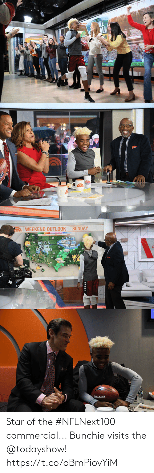 Star: Star of the #NFLNext100 commercial... Bunchie visits the @todayshow! https://t.co/oBmPiovYiM
