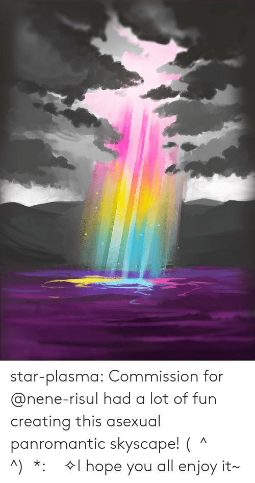 Target, Tumblr, and Asexual: star-plasma:  Commission for @nene-risuI had a lot of fun creating this asexual panromantic skyscape!(ノ^ヮ^)ノ*:・゚✧I hope you all enjoy it~