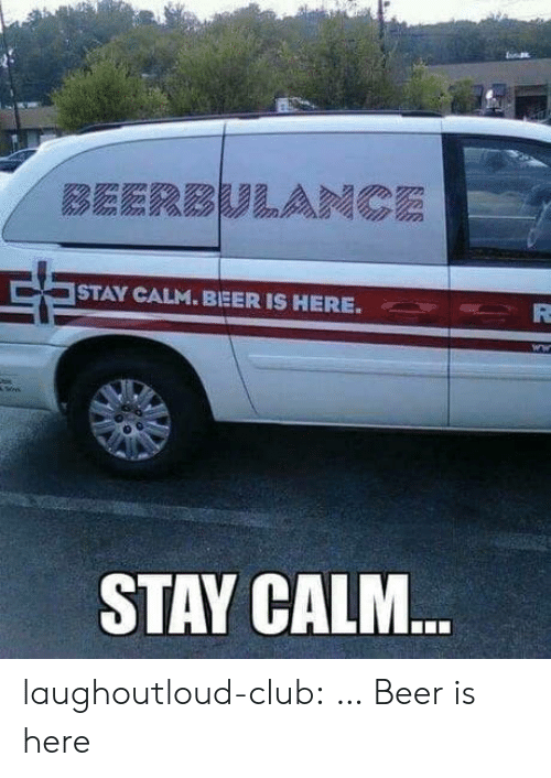 Beer, Club, and Tumblr: STAY CALM. BEERIS HERE.  STAY CALM laughoutloud-club:  … Beer is here