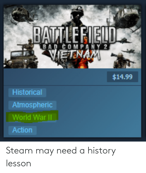 steam: Steam may need a history lesson