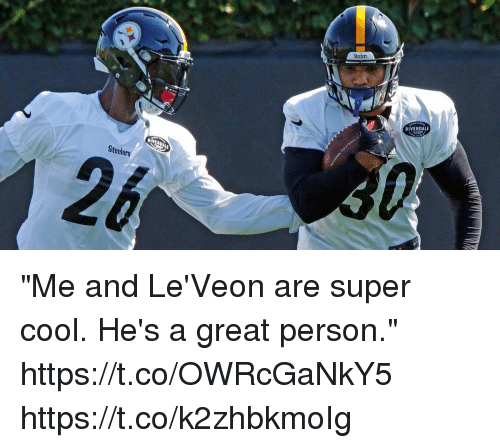 "super cool: Steelers  RIVENDALE  Steelers ""Me and Le'Veon are super cool. He's a great person."" https://t.co/OWRcGaNkY5 https://t.co/k2zhbkmoIg"