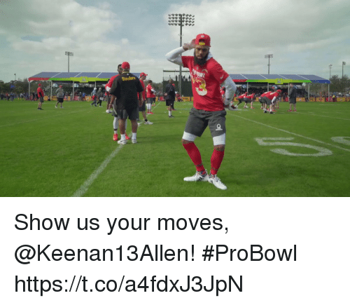 Your Moves: Steelers Show us your moves, @Keenan13Allen! #ProBowl https://t.co/a4fdxJ3JpN