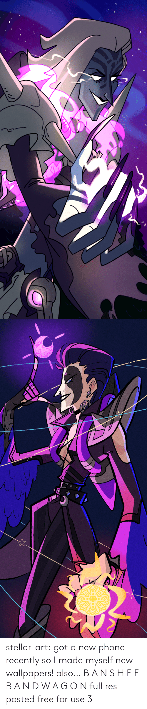 Phone, Tumblr, and Blog: stellar-art:  got a new phone recently so I made myself new wallpapers!also…B A N S H E E B A N D W A G O Nfull res posted free for use 3