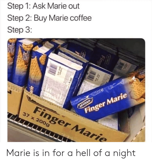 Step 1 Ask Marie Out Step 2 Buy Marie Coffee Step 3 Finger