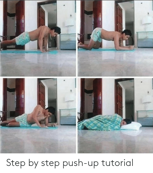 step: Step by step push-up tutorial
