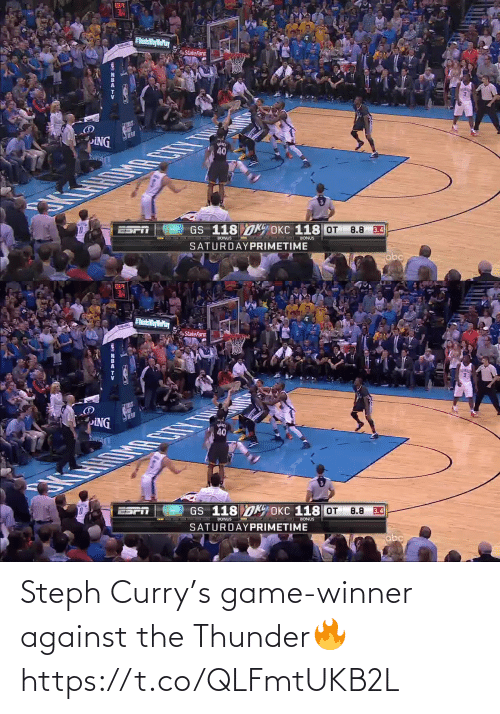 thunder: Steph Curry's game-winner against the Thunder🔥 https://t.co/QLFmtUKB2L