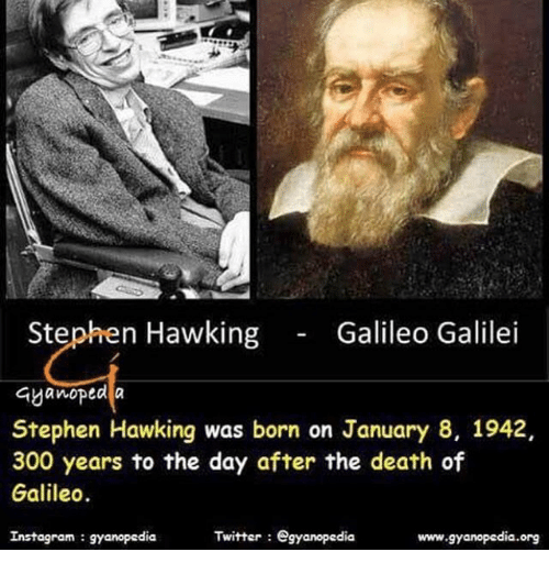 a biography of stephen william hawking born years after the death of galileo in oxford england