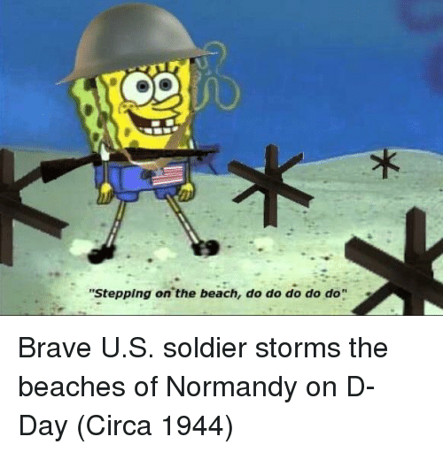 "d-day: ""Stepping on the beach, do do do do do"" Brave U.S. soldier storms the beaches of Normandy on D-Day (Circa 1944)"