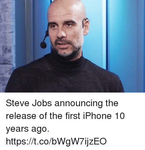 Steve Jobs: Steve Jobs announcing the release of the first iPhone 10 years ago. https://t.co/bWgW7ijzEO