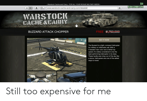 Too Expensive: Still too expensive for me