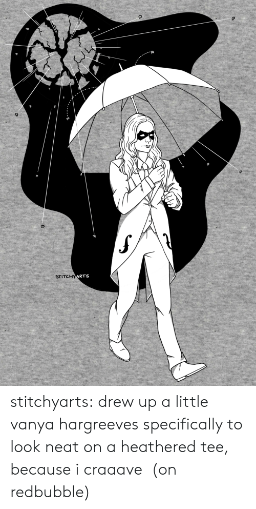 Redbubble: STITCHYARTS stitchyarts:  drew up a little vanya hargreeves specifically to look neat on a heathered tee, because i craaave (on redbubble)