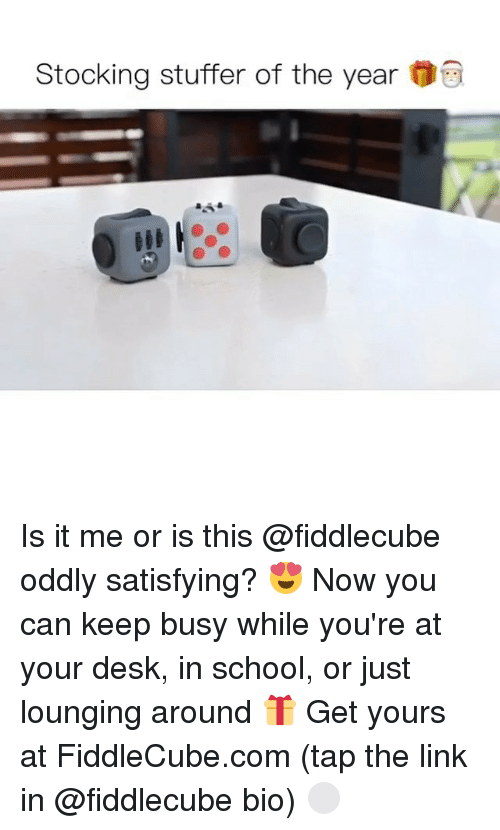Oddly Satisfying: Stocking stuffer of the year Is it me or is this @fiddlecube oddly satisfying? 😍 Now you can keep busy while you're at your desk, in school, or just lounging around 🎁 Get yours at FiddleCube.com (tap the link in @fiddlecube bio) ⚪️